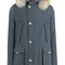 Arctic df down parka with fur collar