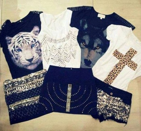 wild shirt fashion wild animal