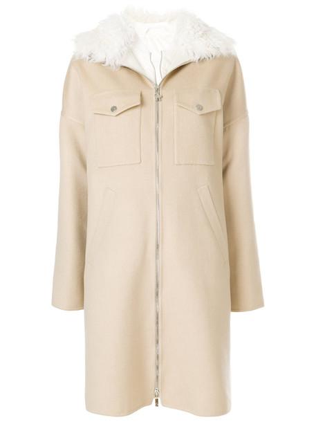 Moncler Gamme Rouge coat zip women nude