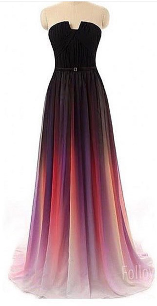 amazoncom enjoybuys 2015 gradient ombre chiffon long