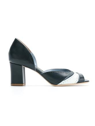 open women pumps grey metallic shoes