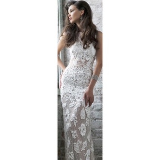 dress white lace dress sherri hill lace dress white dress prom dress long prom dress lace wedding dress wedding dress