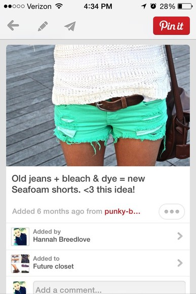 mint shorts mint green