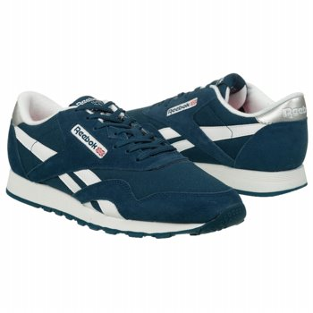 Athletics Reebok Men's Classic Nylon Blue/White/Silver Shoes.com