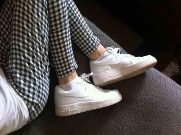 black white nike pants soft grunge pale grunge pale plaid pants printed pants tartan jeans checkered