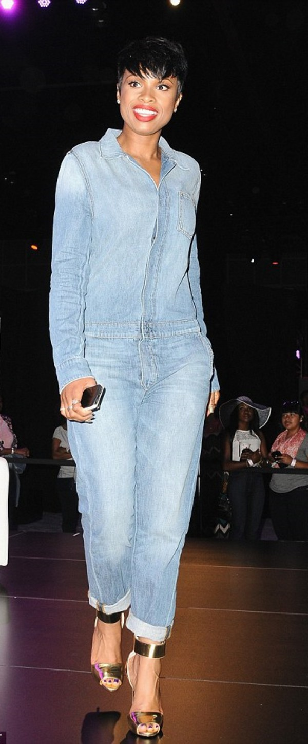 jumpsuit jennifer hudson shoes