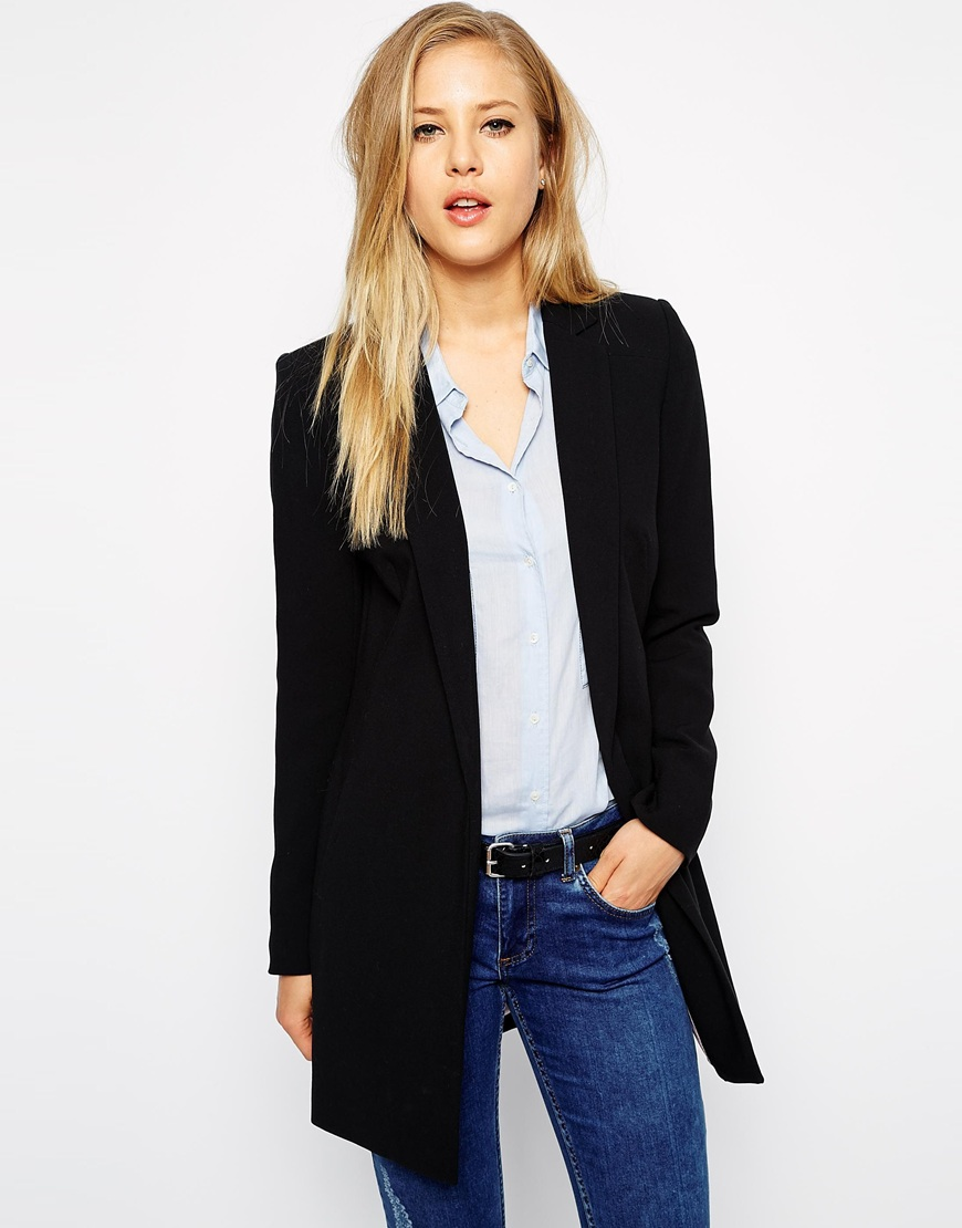 Oasis Longerline Tailored Jacket at asos.com