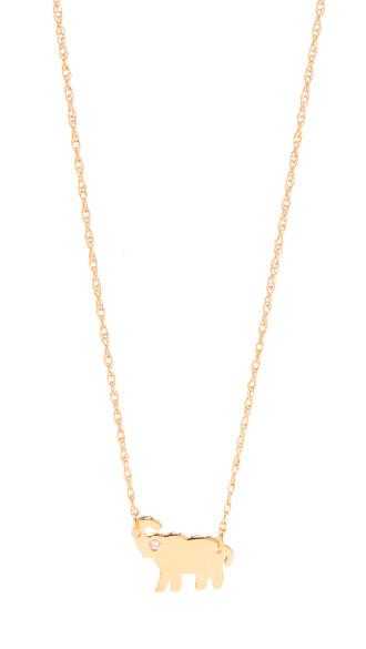 mini elephant necklace gold jewels