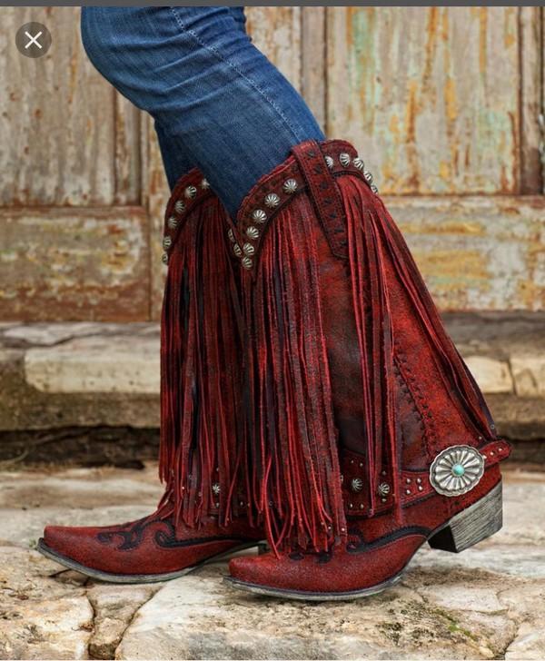 04d6af66915 Amazon.com: Liberty Black Women's Vegas Fringe Boot Pointed Toe: Shoes