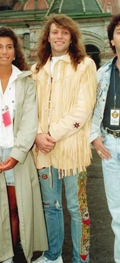 jacket,jon bon jovi,bon jovi,80s style,90s style,beige,fringes,vintage,retro,fringed jacket
