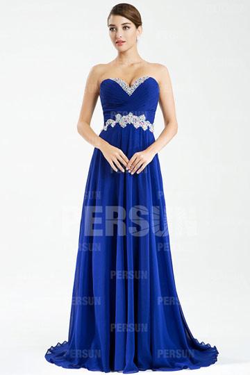 Beautiful Chiffon V-neck Beaded Flowers A-line Formal Dress [PPCD2066]- AU$           180.42 - DressesMallAU.com