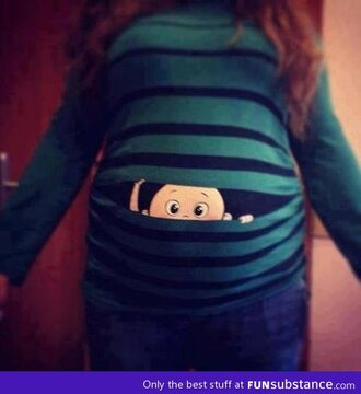 sweater long sleeve maternity cute stripes baby funny shirt shirt bag funny sweater green