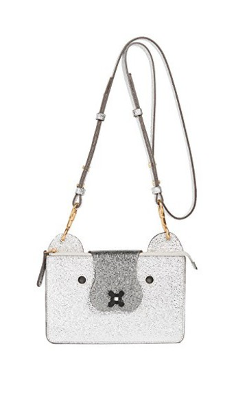 Anya Hindmarch cross pouch silver bag