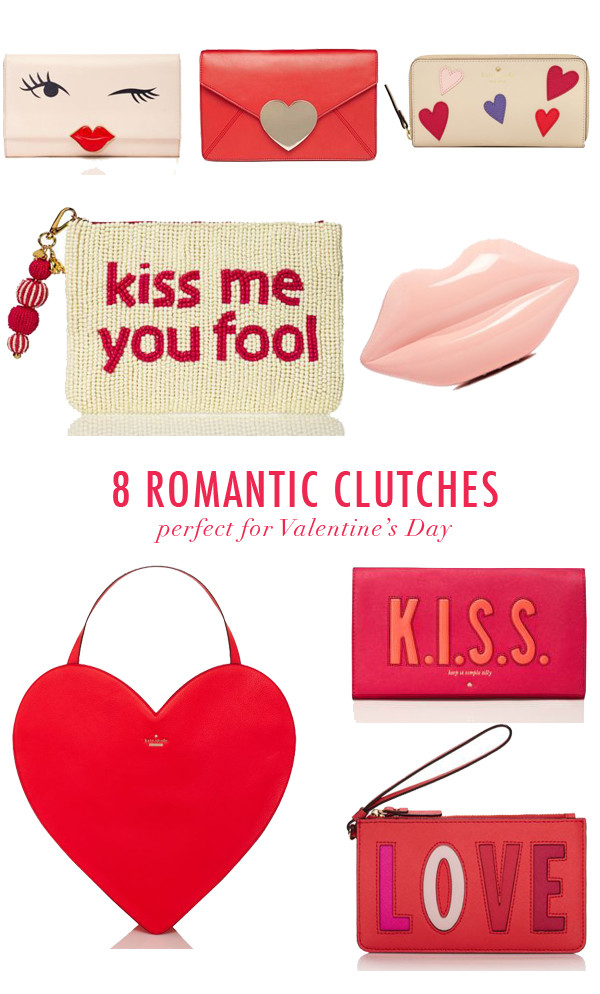 ASOS Love Heart Envelope Clutch Bag At