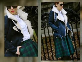 blue aliexpress coat sheinside beeswonderland lapel coat red woolen coat overcoat outerwear fleece jackets fleece suede buckles free shipping trending forest green