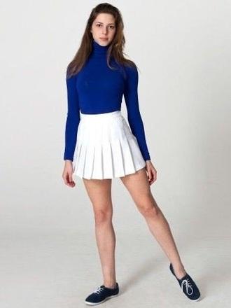 skirt tennis skirt pleated skirt white skirt