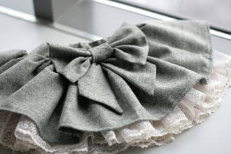 skirt bow grey and white ruffle grey grey skirt bow skirt denim skirt cute