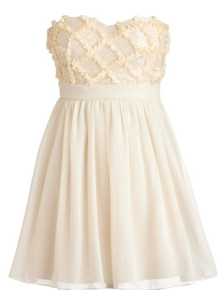 dress romantic white cute pearl