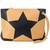 Nina Ricci - star print clutch bag - women - Leather - One Size, Yellow/Orange, Leather