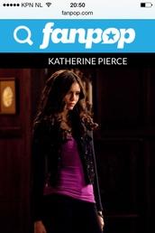 jacket,the vampire diaries,katherine pierce,nina dobrev
