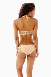 swimwear,bikini,crochet,crochet panel bikini bottoms,boy short bikini bottoms,nude bikini,naked bikini,bikini bottoms,crochet bikini,crochet panel,boyfriend shorts,bottom,frankies,full coverage,tan,frankies bikini,nude swimwear,bikiniluxe