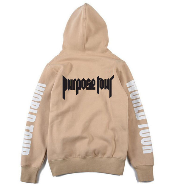 justin bieber purpose tour 2016 exclusive hoodie. Black Bedroom Furniture Sets. Home Design Ideas