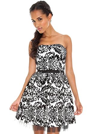 Flock Belt Prom Dress-LT33B