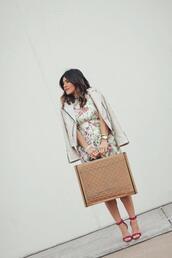 chictalk,blogger,jacket,bag,dress