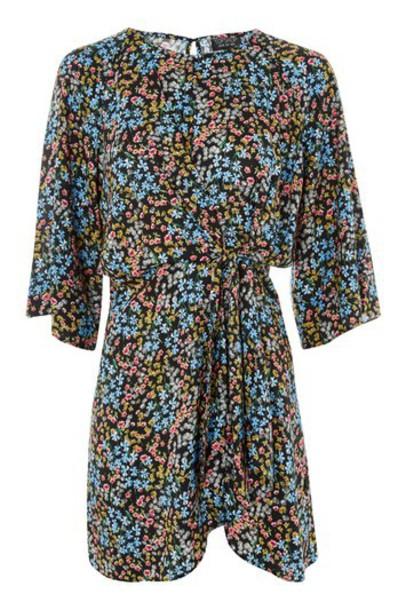Topshop dress mini dress mini floral