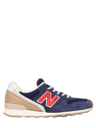mesh sneakers suede blue beige shoes