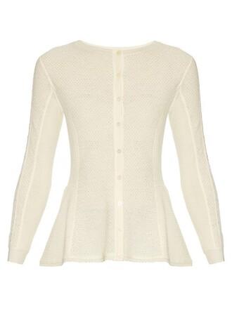 cardigan lace wool cream sweater
