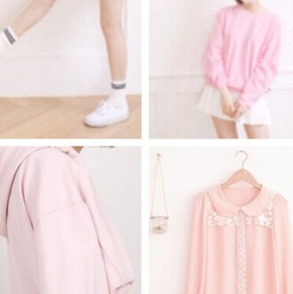 sweater pink cute pastel kawaii pastel goth