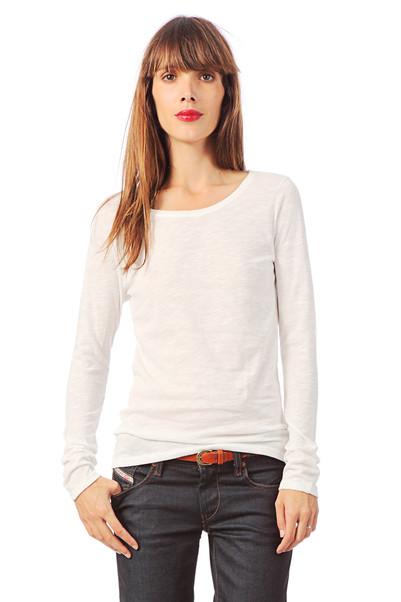 T-shirt liseré dos Malo Blanc / Ecru Petit Bateau sur MonShowroom.com