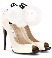 shoes,jimmy choo,pumps,white high heels,white,open toes,open toe heels