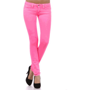 Pink Skinny Jeans - Polyvore