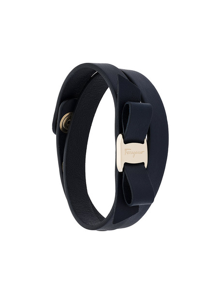 bow women leather blue jewels