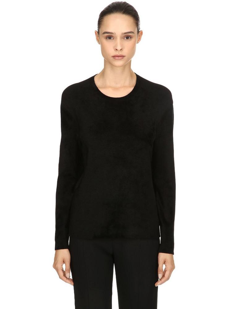 FALIERO SARTI Dublino Viscose Blend Knit Sweater in black