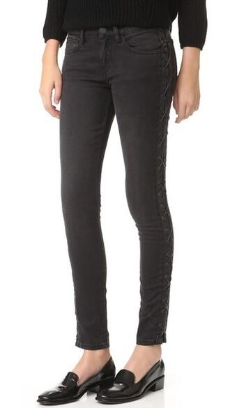 jeans lace black black lace
