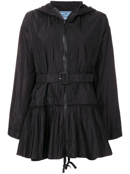 Prada jacket pleated flare women black