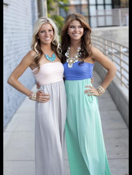 dress pastel dress white/grey maxi dress purple/green maxi dress