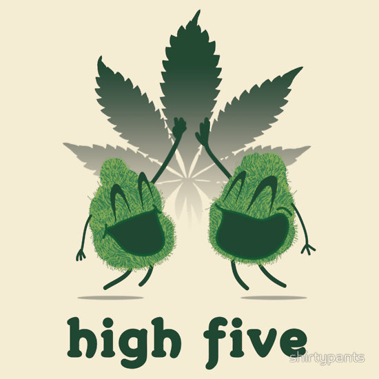 """High Five"" T-Shirts & Hoodies by shirtypants 