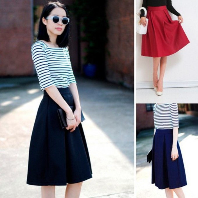 pleated blue skirt pleated skirt black skirt 80s style 80s