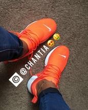 shoes,nike,presto,orange