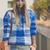 My Blonde Gal: Plaid sweater with New Balance