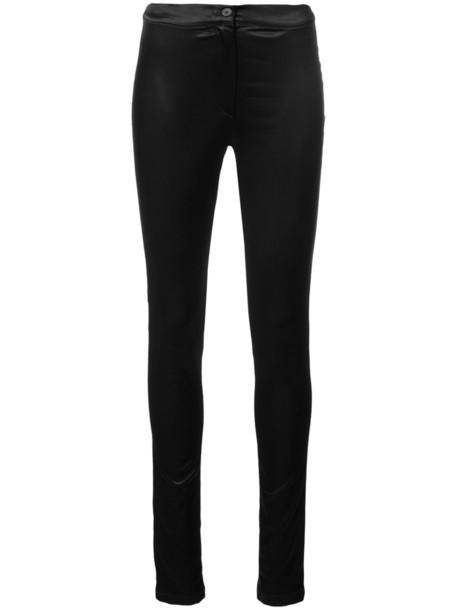 ANN DEMEULEMEESTER women spandex fit black pants