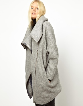 Just Female | Just Female Wool Zip Coat at ASOS