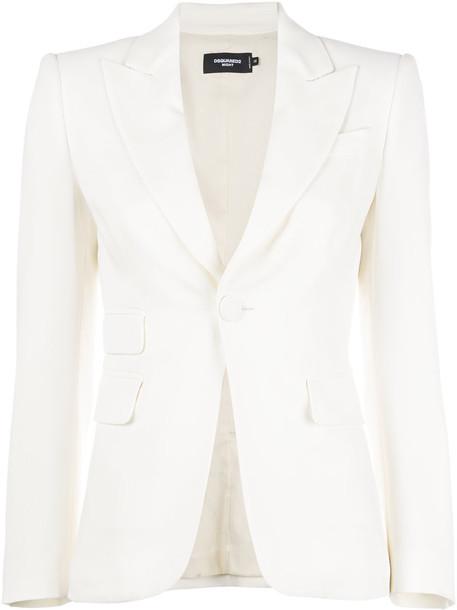 Dsquared2 blazer women spandex formal white jacket
