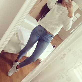 jeans pants sweater