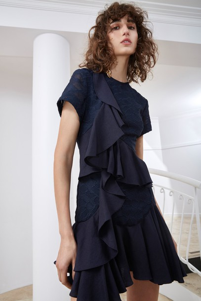 C/MEO COLLECTIVE dress short sleeve dress short navy