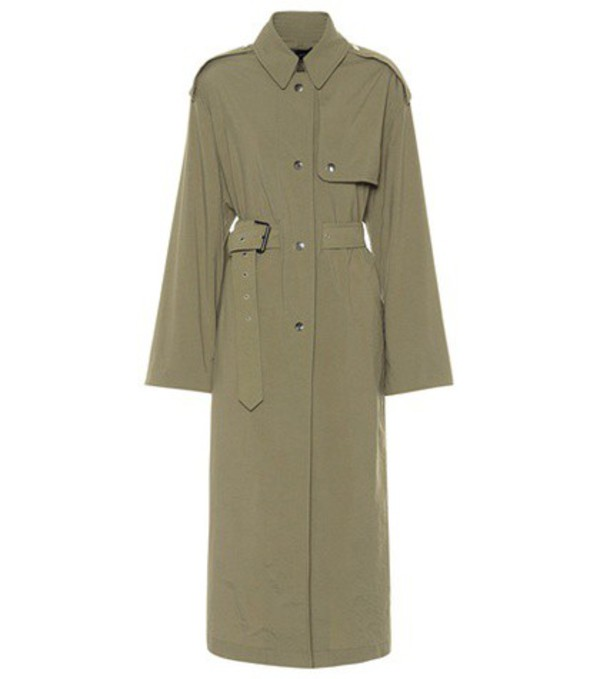 Isabel Marant Lawney trench coat in green
